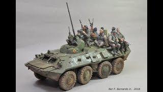 """""""Grozny"""" Diorama Build BTR 80A Zvezda in 1/35 Scale"""