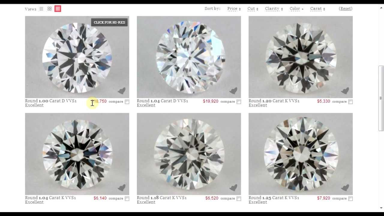 The Perfect Engagement Ring Diamond Color Vs Cost Youtube