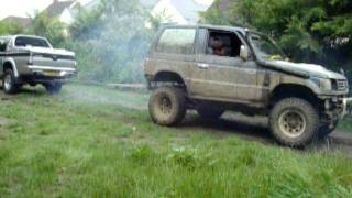 Mitsubishi Pajero Vs Mitsubishi L200 Tug of War - Off Road - Round 2