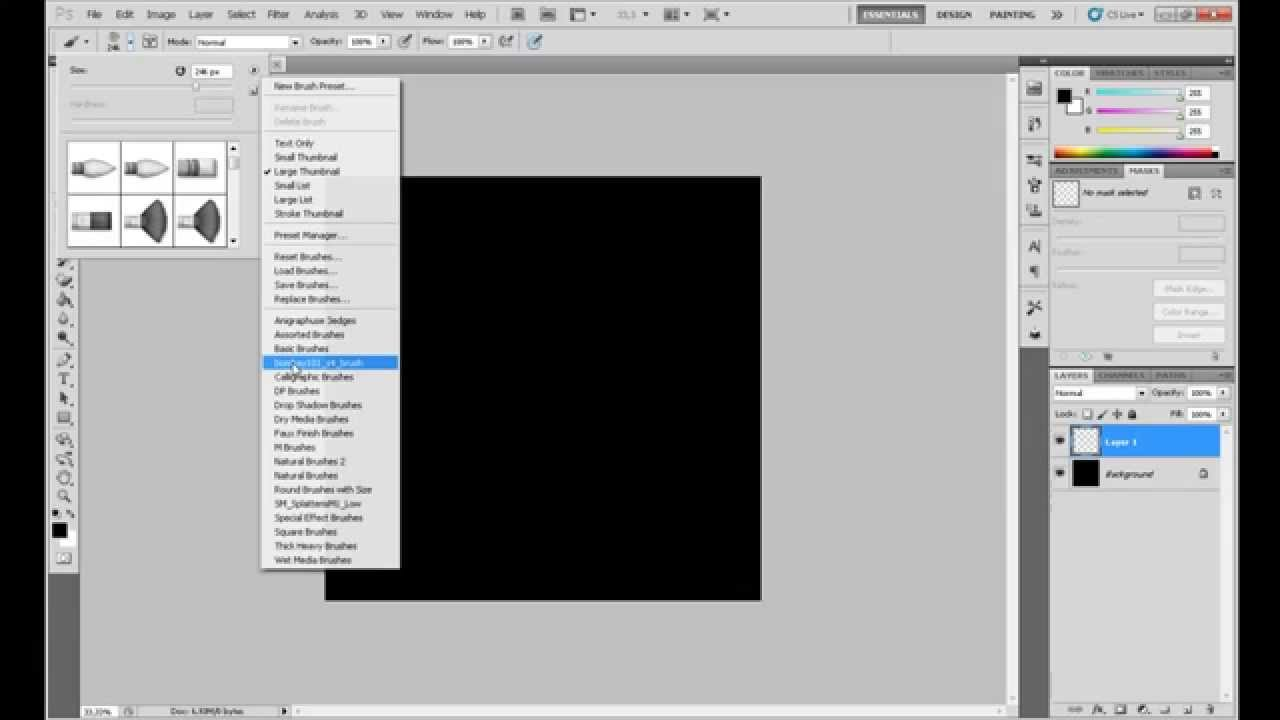 How To Change Brush Color In Photoshop YouTube