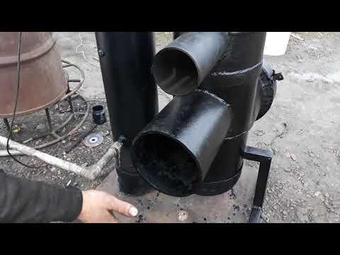 Модернизация печки из кислородного баллона,вода плюс калорифер!