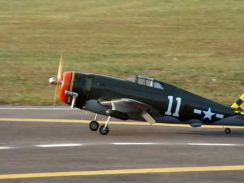 Scale  P-47 Lands @ Kickapoo RC Field