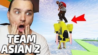 STEIG AUF DAS JETPACK 😱 LEVEL ASIAN TEAM PARCOUR 2 (GTA 5 Online)