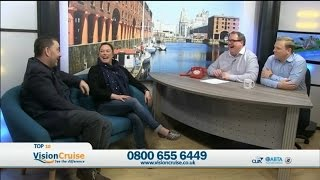 Rich and Jo Vision Cruise Interview ¦ Wednesday's Top 10 Cruise Show ¦ 27 01 16
