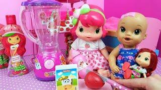 Rotina Da Manhã Da Moranguinho Baby Participação Baby Alive Julinha e Isa Toy Cake Tia Fla