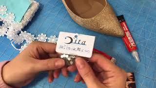 Como fazer sapato de noiva com renda e strass