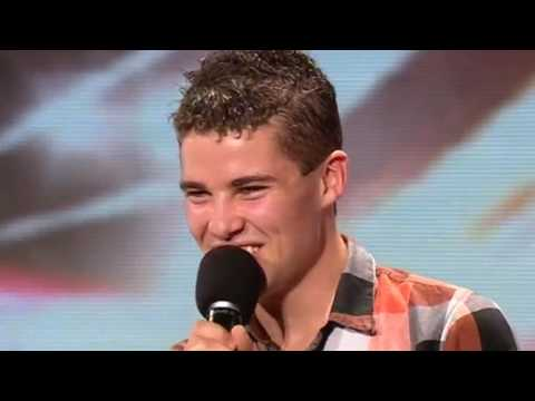 The X Factor 2009 - Joseph McElderry - Auditions 1  (itv.com/xfactor)