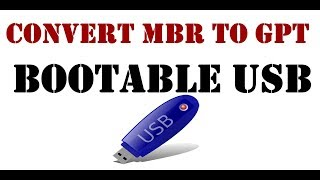How to Fix MBR/GPT partition issue with bootable usb (Without Losing Data)