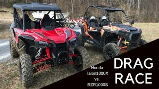 Honda Talon vs. RZR 1000 Drag Race.