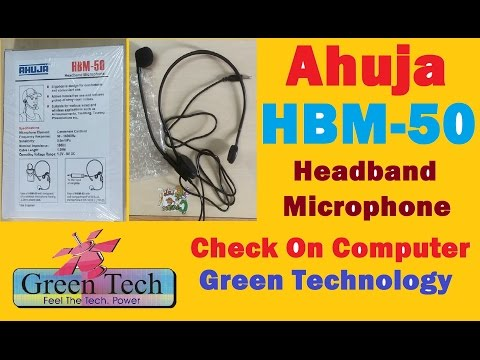 Unboxing  AHUJA HBM - 50 Microphone Unboxing and check on Computer
