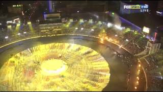 Opening Ceremony Cricket 2011 World Cup  Fireworks Dhaka Bangladesh