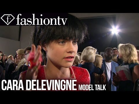 Cara Delevingne: Model Talk At Spring summer 2014 Fashion Week | Fashiontv video