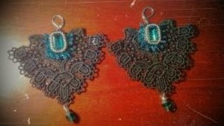 DIY how to make lace jewels using white glue and pigments