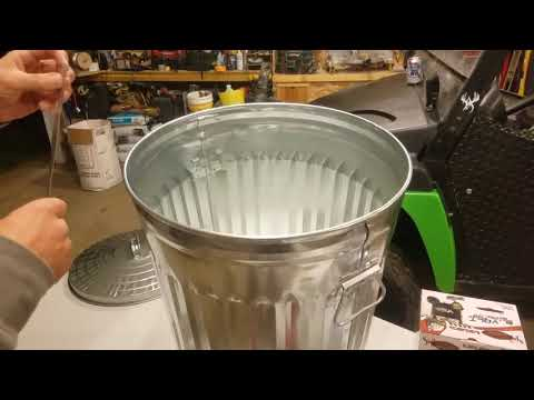 trash can How to deer feeder, corn spreader, 8 minute assembly