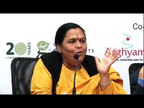 Uma Bharti speaking at valedictory function of India Rivers Week, 2014