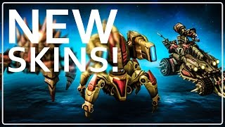 StarCraft 2 New Skins Highlight Video Bone Ravager Adun Immortal and Junker Hellion