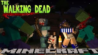 Minecraft THE WALKING DEAD - SCUBA STEVE ATTACKED BY ZOMBIES!!!