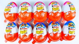 10X KINDER JOY SURPRISE EGGS BLUE & PINK EDITIONS OPENING NEW TOYS