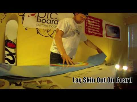 Epic Board Skins Custom Snowboard Graphics Installation Video