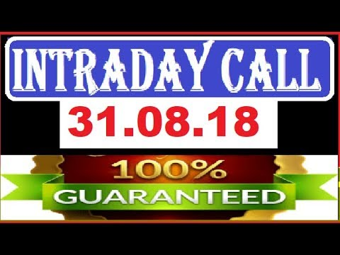IntraDay Top 3 Jackpot Call 31.08.2018 || today stock || intraday || best stock for 2018