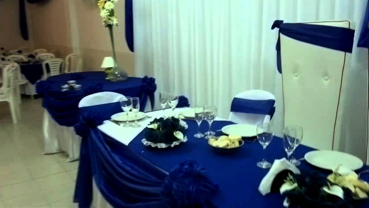 Salon cristal m savio decoracion azul y blanco youtube - Decoracion salon blanco ...
