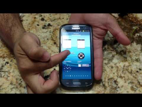 Samsung Galaxy S III Tips - How to turn you the flash light widget (Tip 13)
