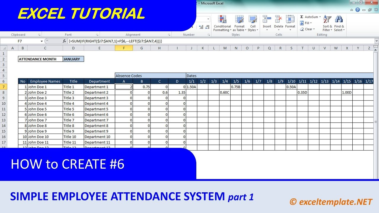 How To Create A Template In Excel