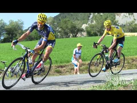 Tour De France 2013 Stage 16 Chris Froome CRASHED By Alberto Contador   reaction..mp4