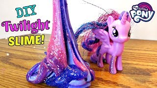My Little Pony Twilight Slime DIY! | Mommy Etc