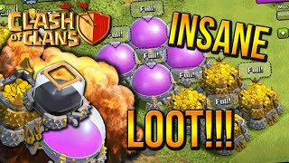 """INSANE LOOT!"" - Town Hall 8 FARMING BASE (CoC TH8) BEST Base Layout 2015"