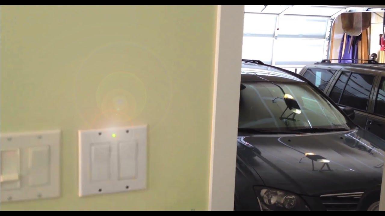 how to make a open garage door warning light anti theft alarm