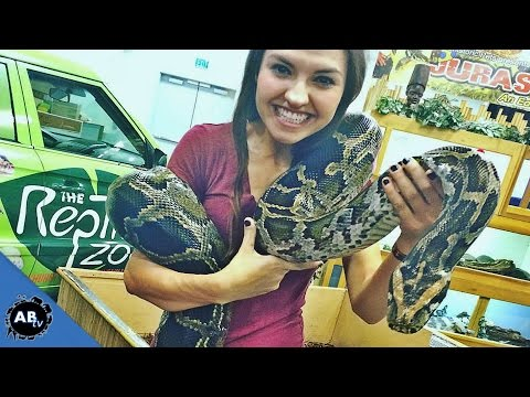 Bria and Chrissy and a HUGE Snake! SnakeBytesTV - Ep. 399 : AnimalBytesTV