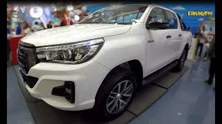 All New TOYOTA HILUX 2019 Mascular-Body-Look Pickup G Variant Exterior Interior Display
