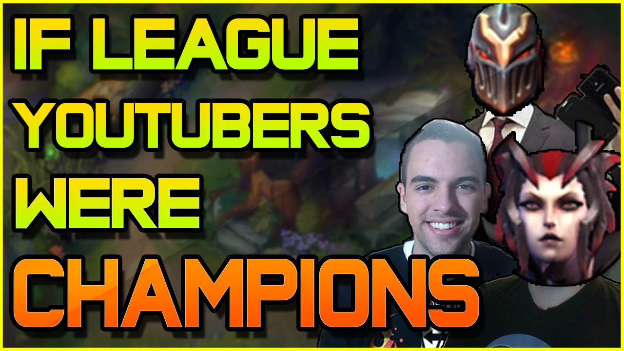IF LEAGUE YOUTUBERS WERE CHAMPIONS ft. GamingCurios & Redmercy | League of Legends [OFFENSIVE]