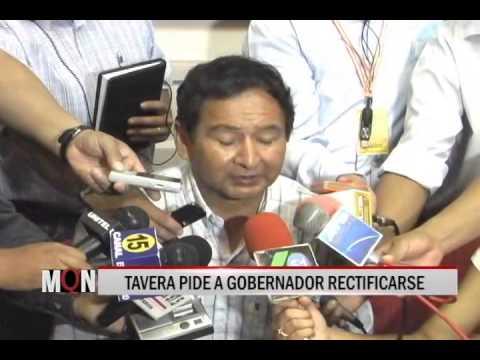 26/11/14 14:27 TAVERA PIDE A GOBERNADOR RECTIFICARSE