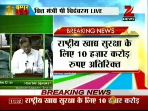 Zee News : Union Budget 2013 Part - 2