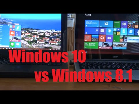 Windows 10 vs Windows 8.1: Hands-on Comparison. Review. and New Features!