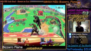 Punishing Roll with Reverse Warlock Punch and Disrespect at End! - SM4SH