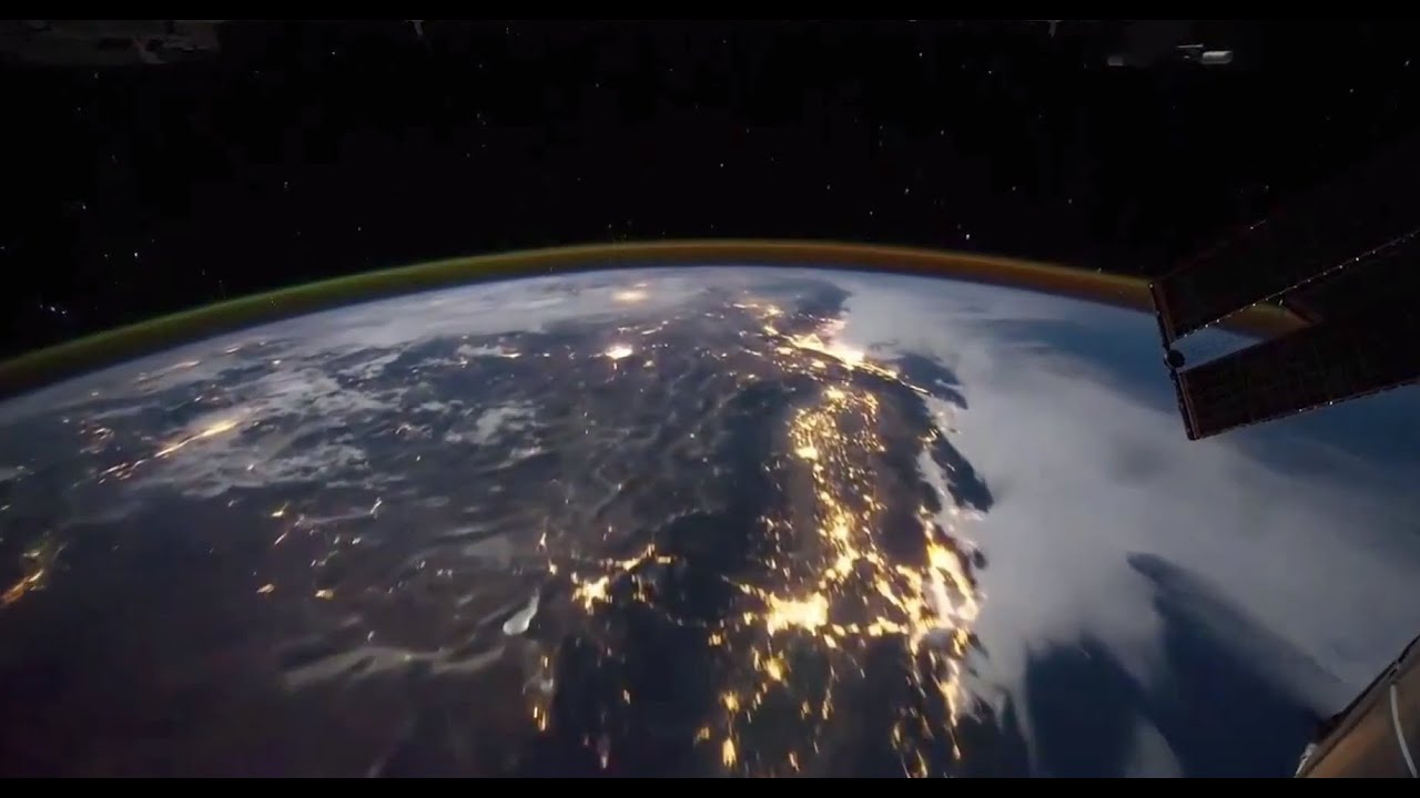 Hurricane sandy from space station