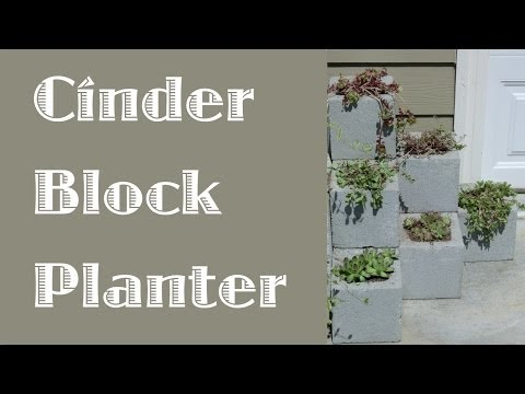 Cinder Block Step Planter