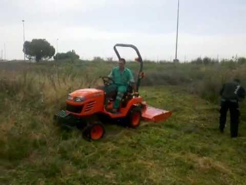 Desbrozadora casera para tractor