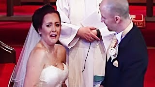 This Bride Turns Around At The Altar And Bursts Into Tears Upon Spotting Uninvited Guests