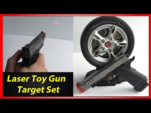 Laser Gun Target Shooting Set - Unboxing and Review