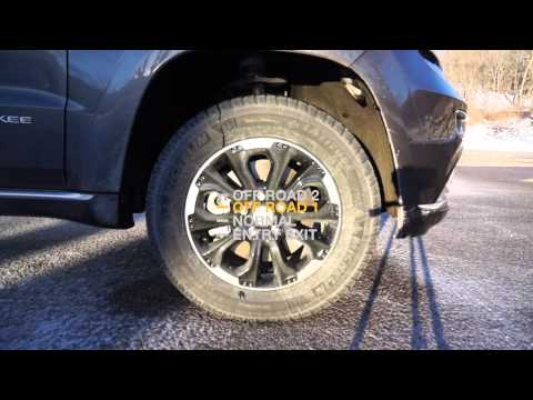 2014 Jeep Grand Cherokee Quadra-Lift® Air Suspension Levels Demo 2