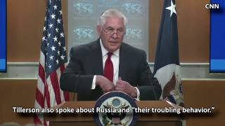 Secretary of State Rex Tillerson Talks to Reporters Just Hours After Being Fired by President Trump