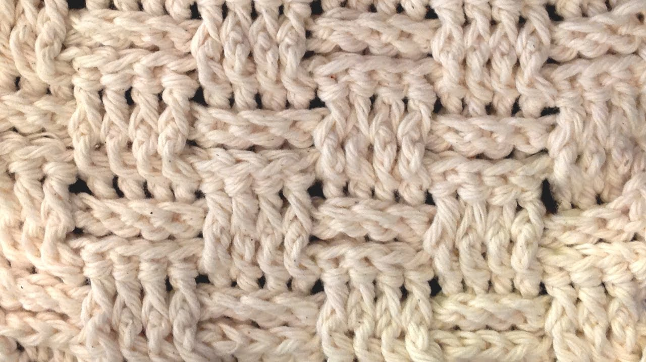Crochet Stitches Left Handed : LEFT HAND Basket Weave Crochet Stitch - Lesson - YouTube