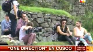 Liam Payne y Harry Styles de One Direction ya recorren Machu Picchu