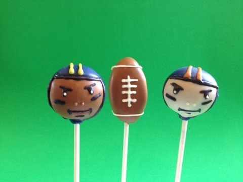 How to make Super Bowl football Cake Pops