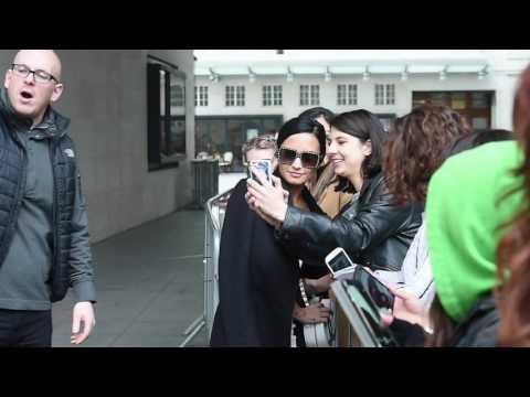 Demi Lovato Seen Leaving BBC Radio 1 In London