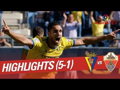 Resumen de Cádiz CF vs Elche CF (5-1)